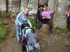 The Pipe Organ, Giant's Causeway-dangerous hike with a stroller!