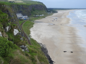 View from Mussenden Temple, 120 ft Cliff face.