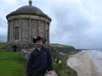 Cowboy at Mussenden Temple, Northern Ireland