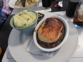 Steak and Guiness Pie with Champ.