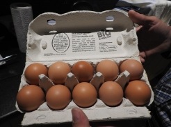 Irish Eggs are NOT refrigerated... Straight from the Chicken's Butt to the Package!