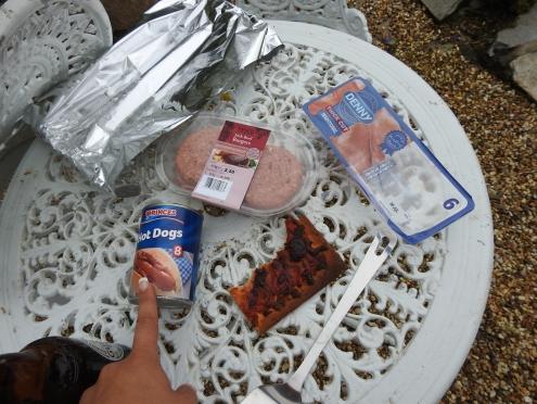 Irish Hot Dogs (Frankfurters), Hamburgers and Irish Bacon.