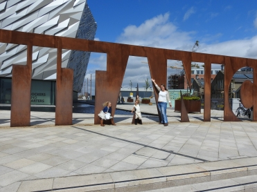 In front of the Titanic Experience.