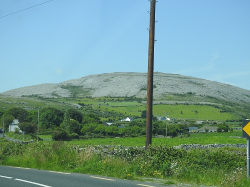 The Burren emerges out of fertile valleys running into the Atlantic