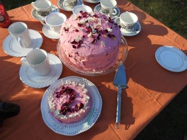 Rose and Lemon Birthday Cake