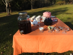 Sweet Tea along with an assortment of Hot Tea options, Cream and Sugar.